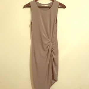 Lovers + friends gray asymmetrical dress